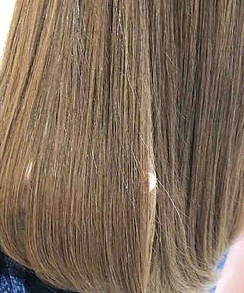 施術前と後では比べものにならないほどのツヤ髪に!