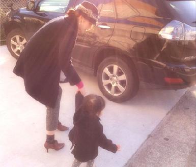 子供を朝、保育園へ